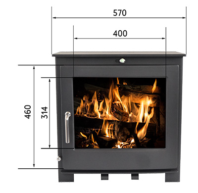 Bromley Fireplace from the Echo Range without a log stand