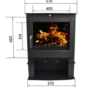 Bromley Fireplace from the Echo Range with a log stand
