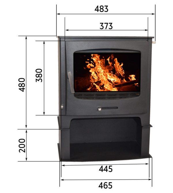 Chester Fireplace from the Echo Range with a log stand