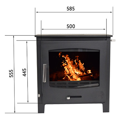 Devon Fireplace from the Echo Range without a log stand