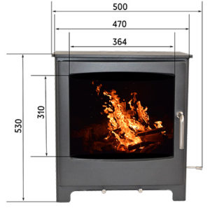 Kinston Fireplace from the Echo Range without a log stand